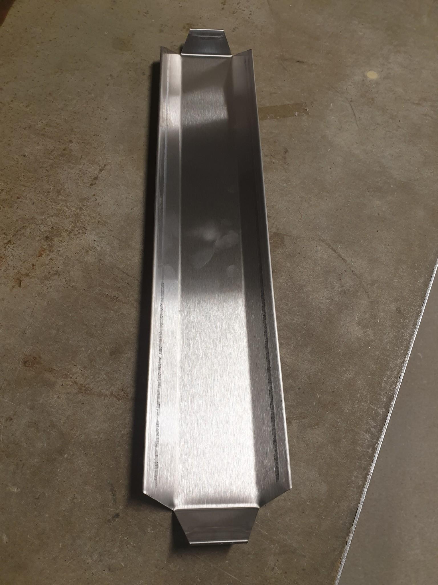 Presentatieschotel rvs 500 x 100 x 20 mm