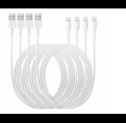 Happyladers.nl 4x Originele iPhone oplader kabel 1m