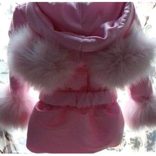 Roze Winterjas Girls met Mouse Oren van bont