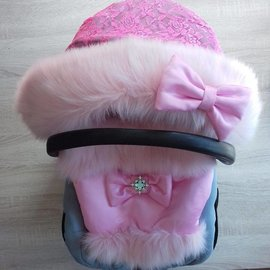 stroller sleeping bag with luxury fake fur  - Copy
