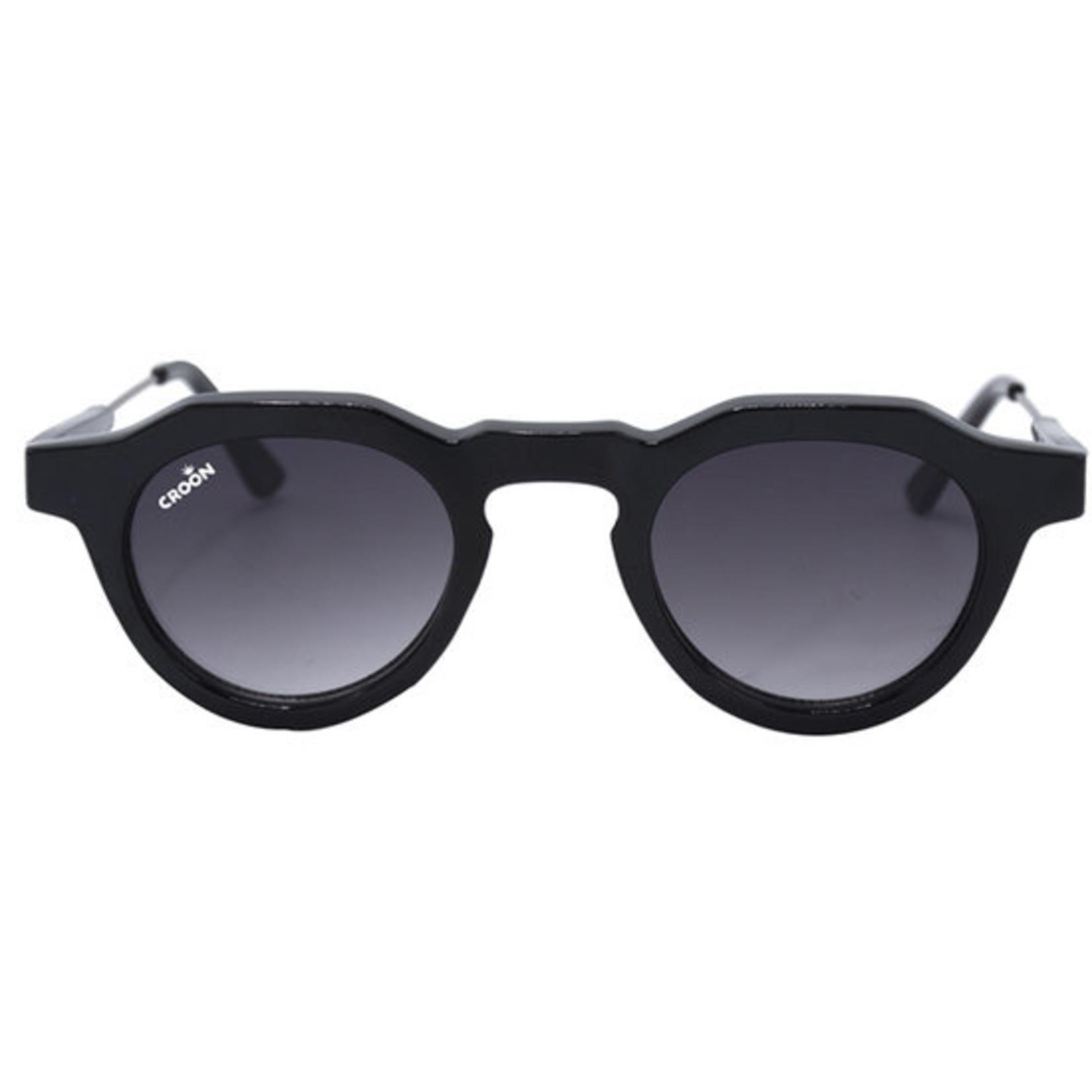 Croon Tailor Shiny Black zonnebril