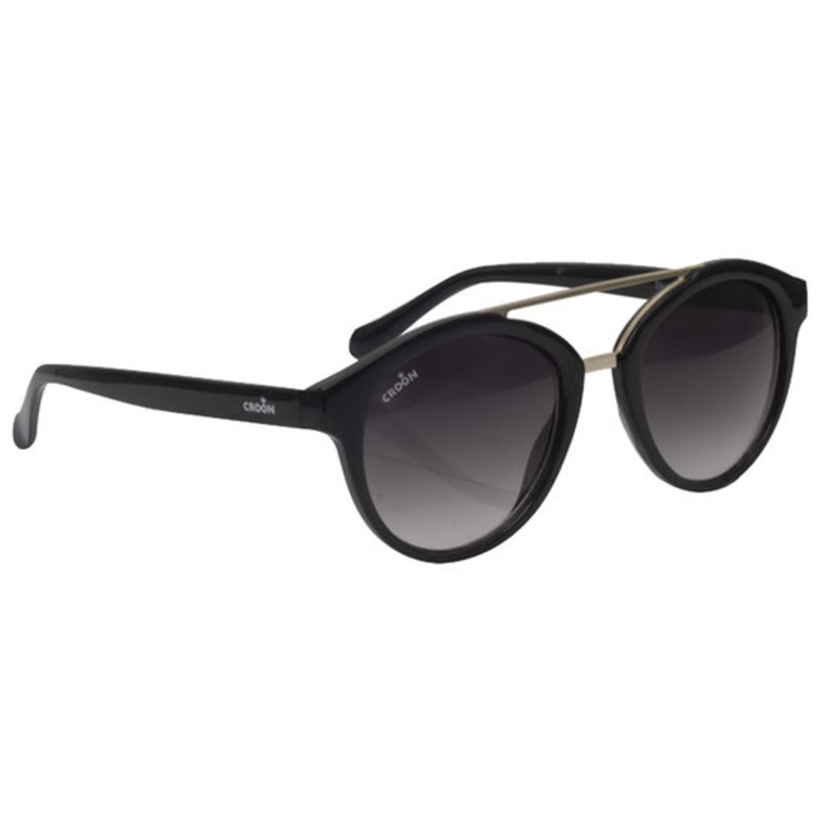 Croon Skye Shiny Black zonnebril