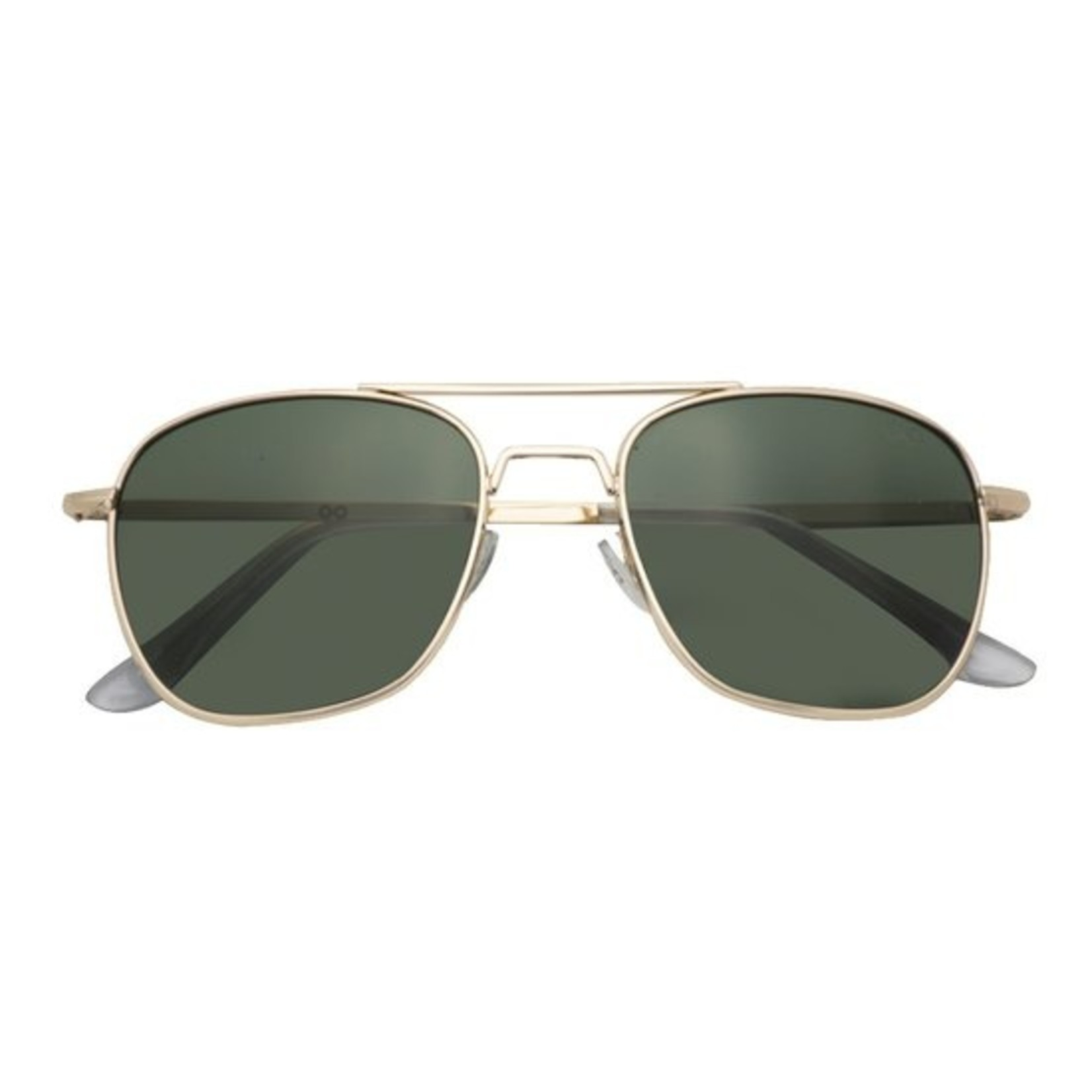 Croon Sting Satin Gold/Green zonnebril