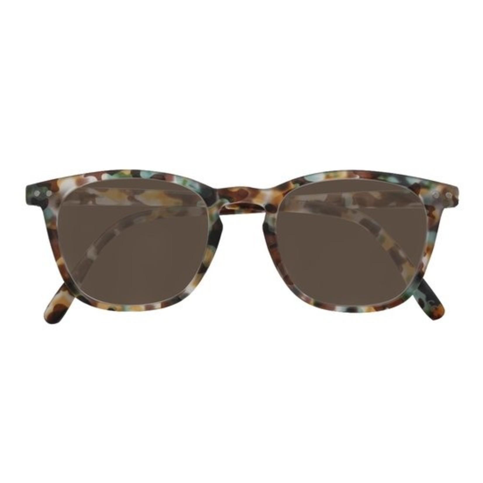 Croon Ann Satin Gold/Green zonnebril pilotenbril