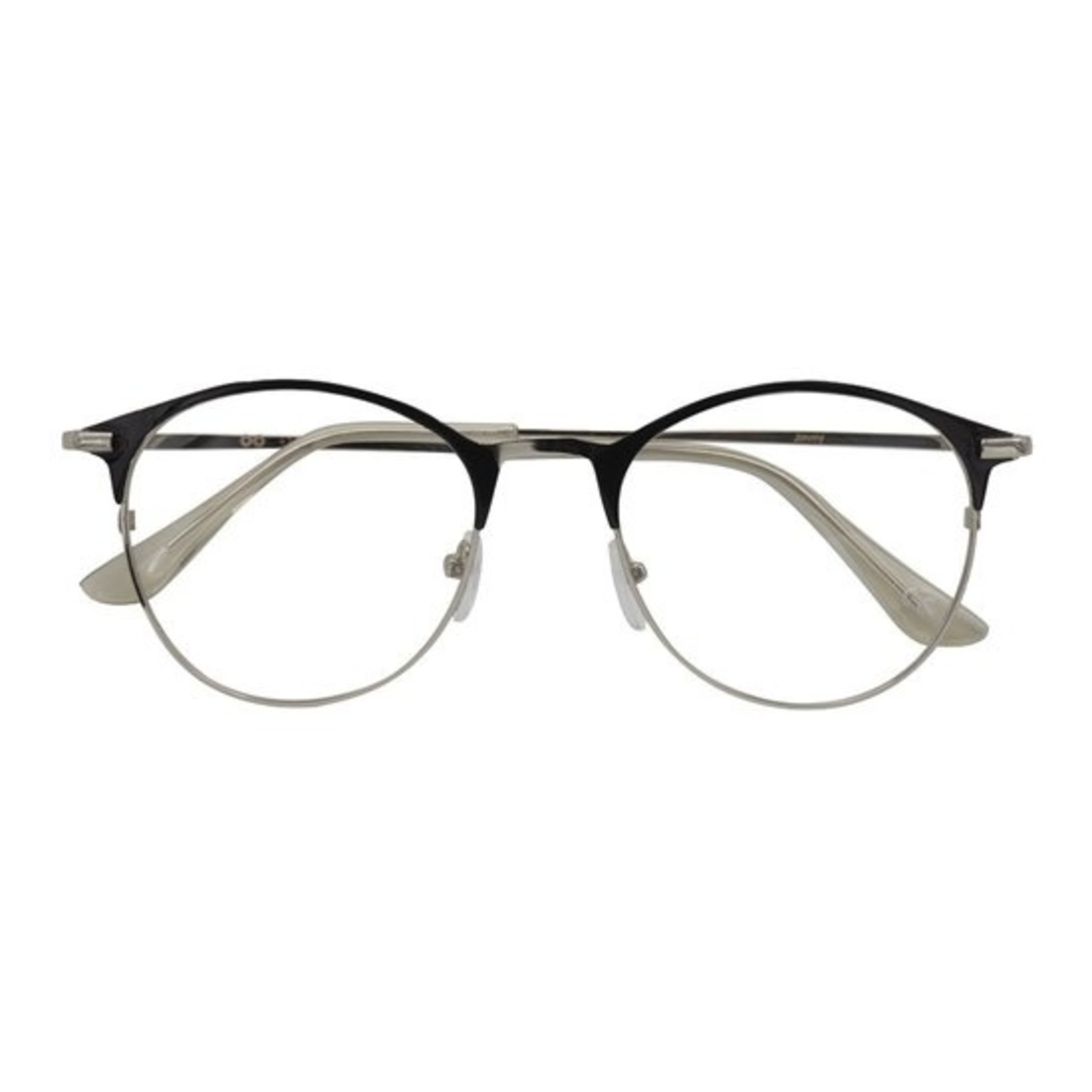 Croon Janis Shiny Black Silver leesbril