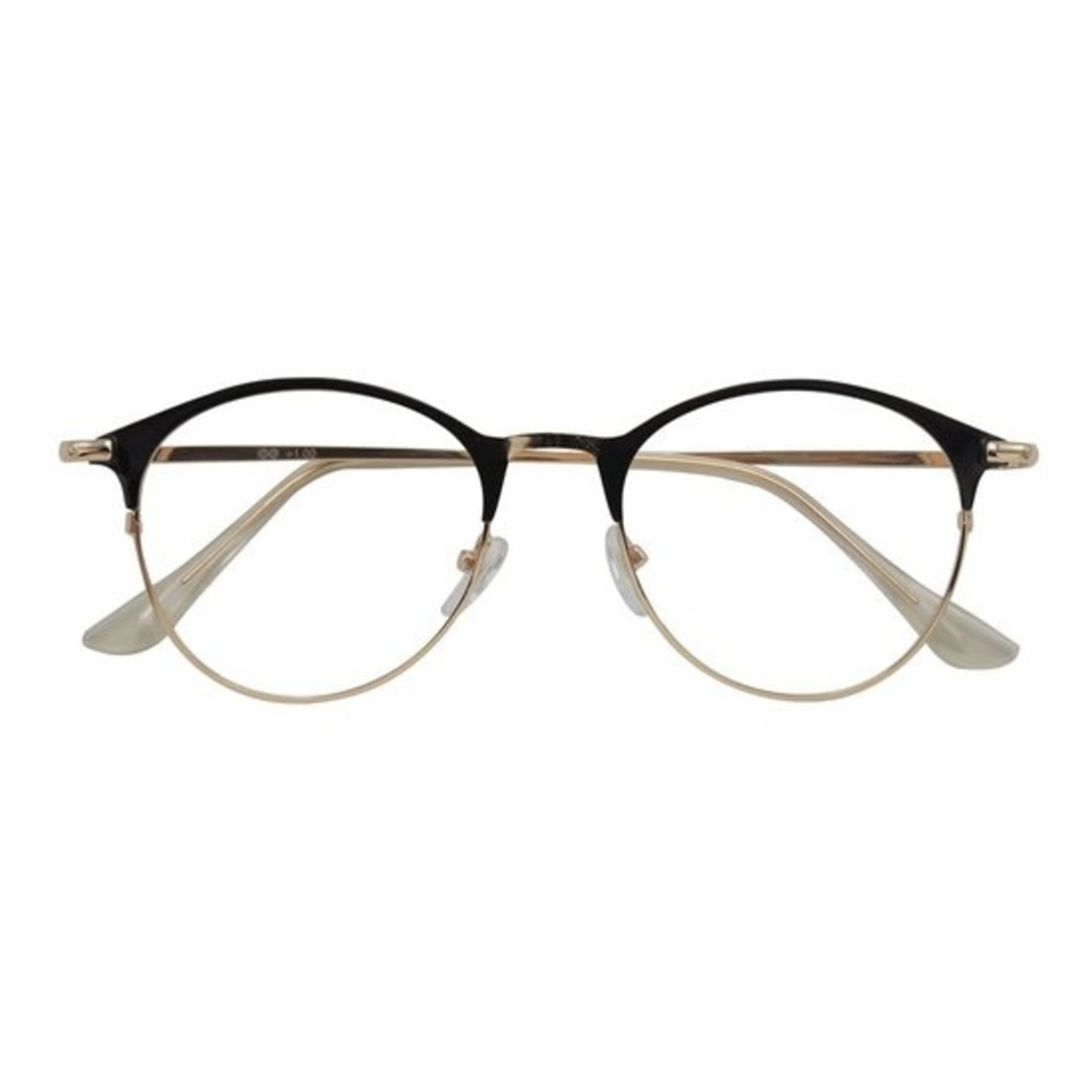 Croon Janis Shiny Black Gold leesbril