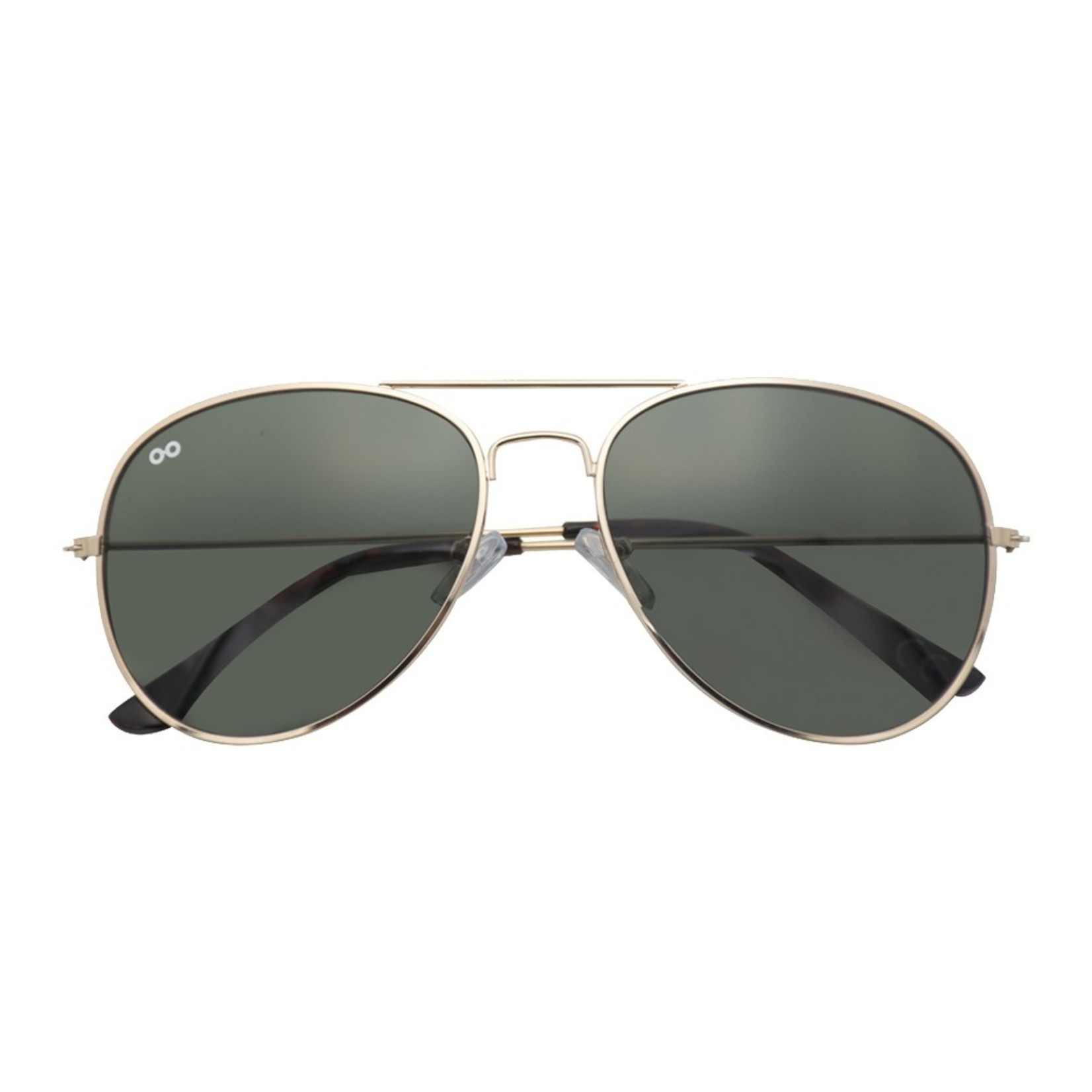 Croon Scott Shiny Gold/Green zonnebril pilotenbril