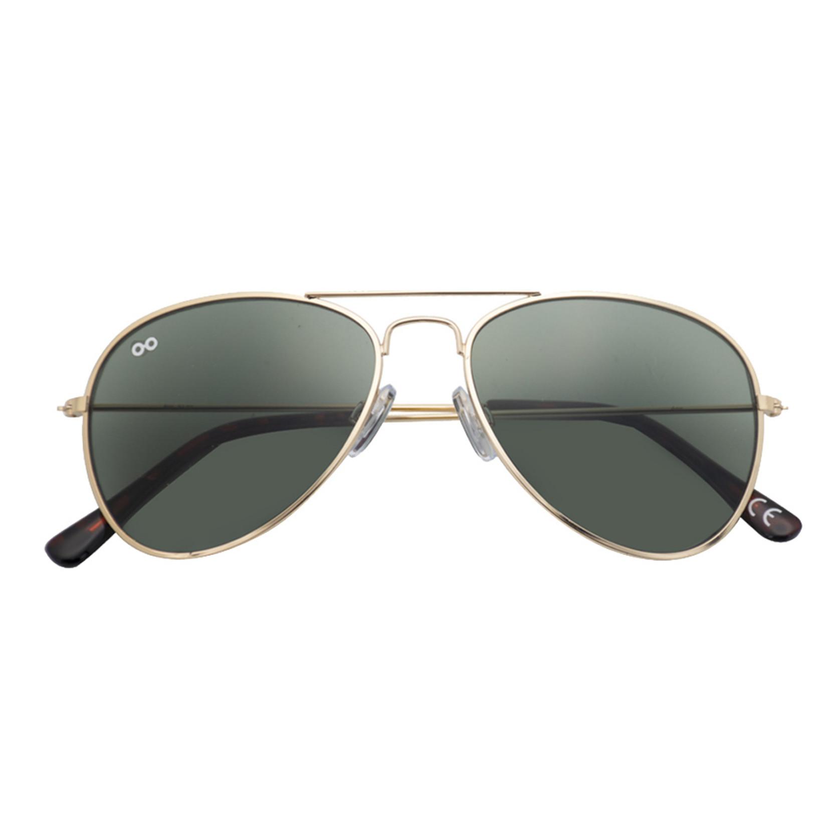 Croon Ann Satin Gold  zonnebril pilotenbril