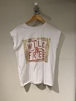 VILA Wit t-shirt met opdruk VILA