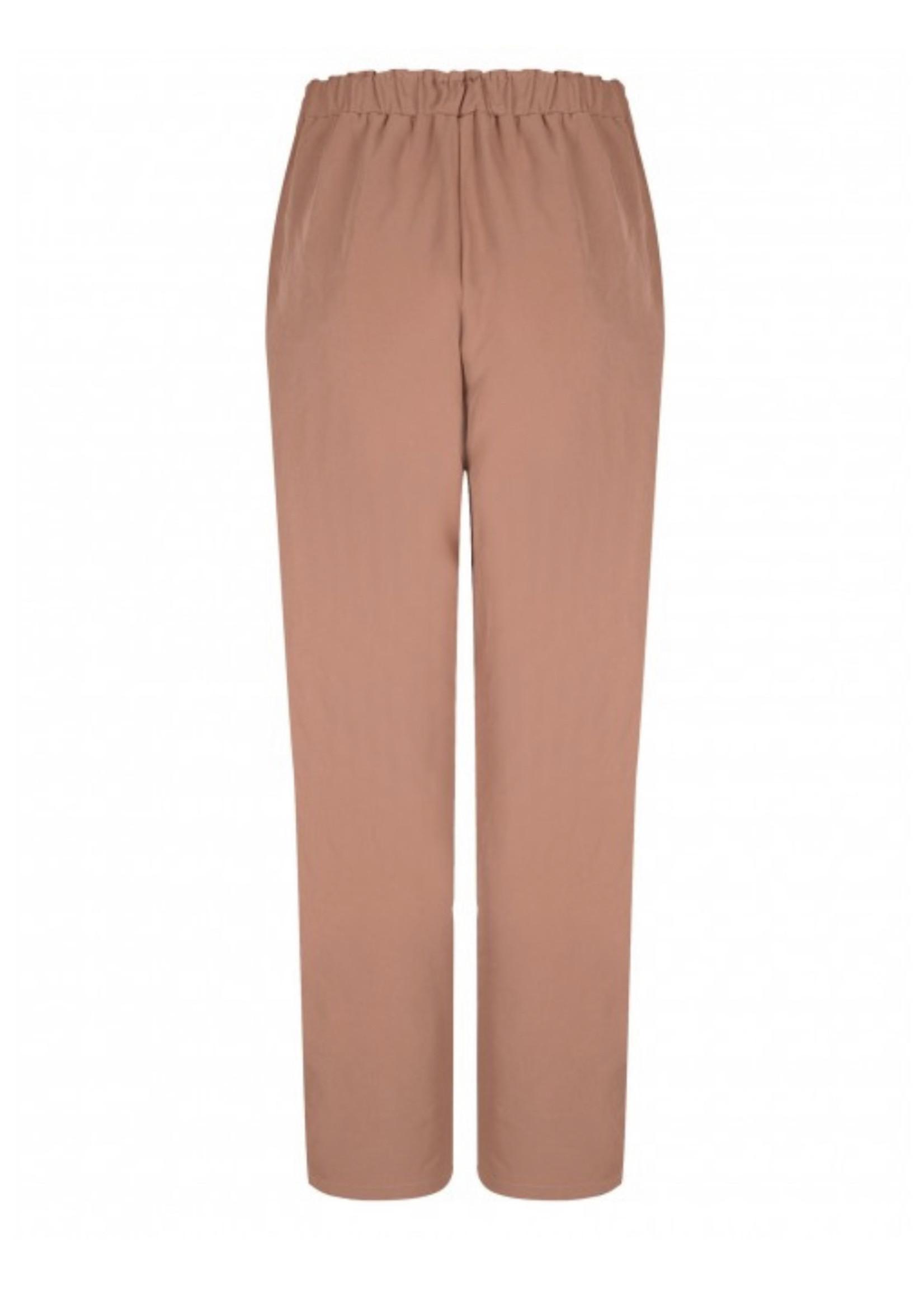 YDENCE Highwaist broek in oud roze van Ydence
