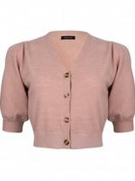 YDENCE Korte top met knopen in oud roze van Ydence