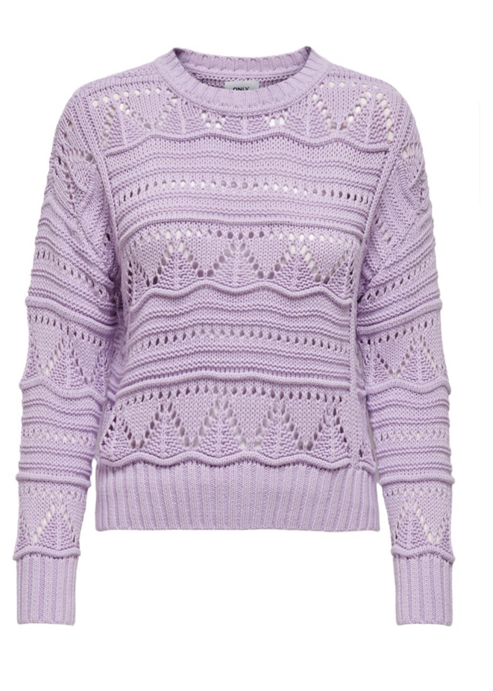 ONLY ONLGALINA LIFE L/S PULLOVER KNT Orchid Bloom