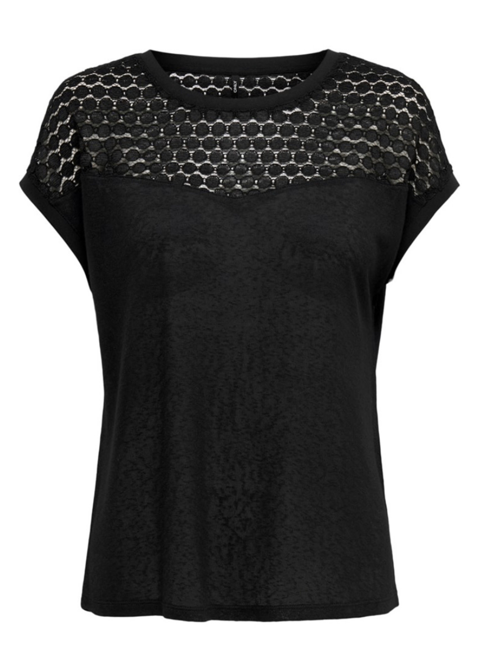 ONLY ONLNEW RIE S/S MIX TOP JRS Black