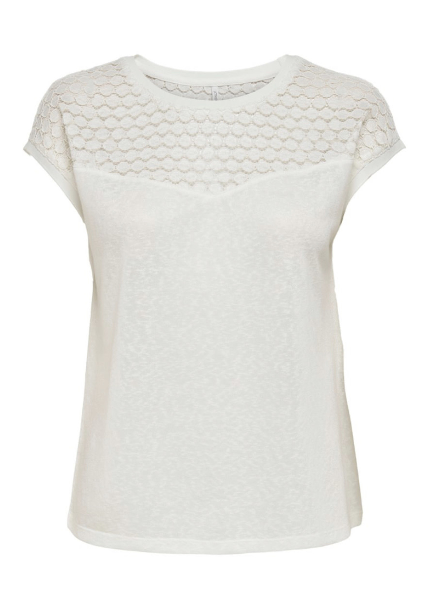 ONLY ONLNEW RIE S/S MIX TOP JRS Cloud Dancer