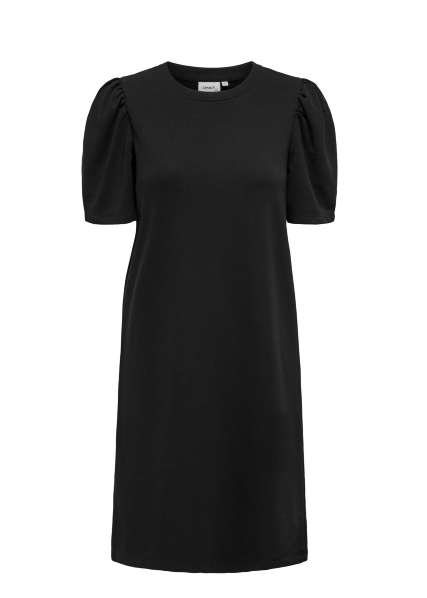 ONLY ONLDIANNA LIFE S/S O-NECK DRESS SWT Black