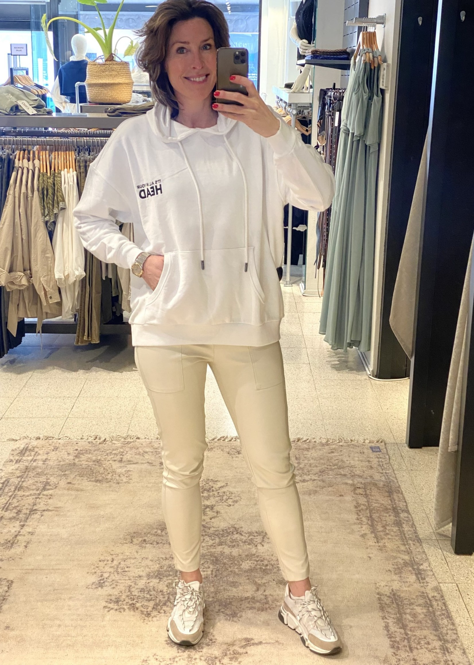 ONLY ONLTENNA LIFE L/S OVERSIZE HOOD SWT Bright White
