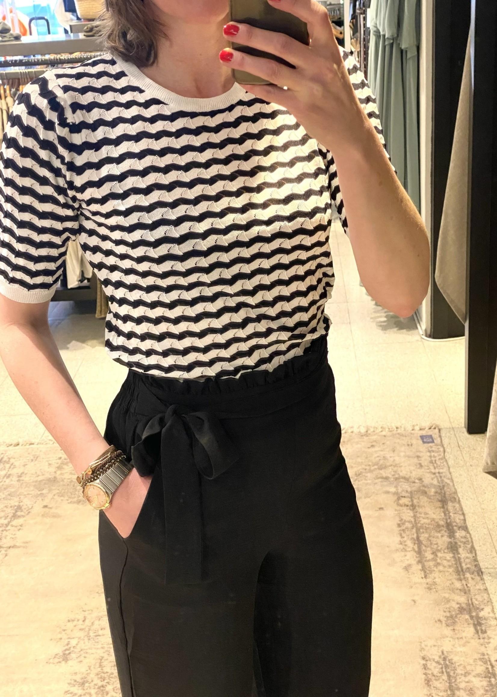 GMAXX Deyna top wit/zwart