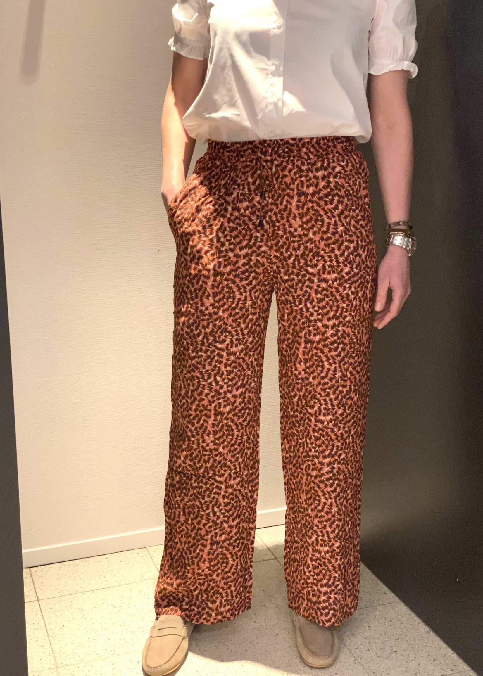 ONLY ONLANNEMONE LONG PALAZZO PANT WVN Faded Rose