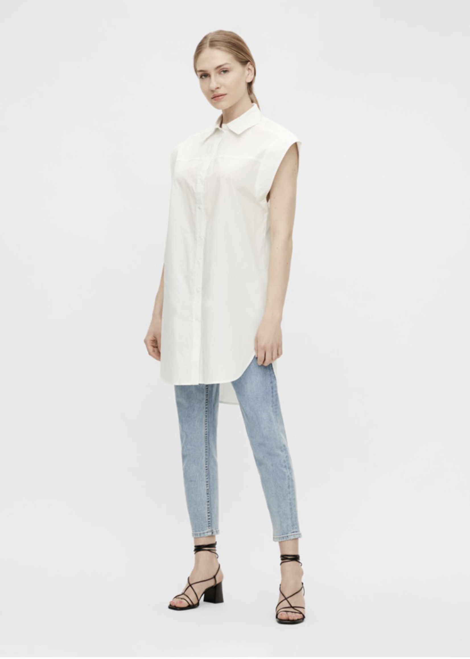 OBJECT OBJTALORA S/L LONG SHIRT 115 .C Bright White