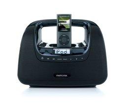 Memorex Minimove Mi3X Tragbares Stereo-Radio (UKW-Tuner, Dock) für Apple iPod schwarz
