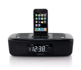Memorex Mi 4290 P Radiowecker (UKW-Tuner, LC-Display, Dock) für Apple iPod und iPhone schwarz