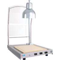 CS-100S Single Lamp Hot Carving Station with Sneeze guard