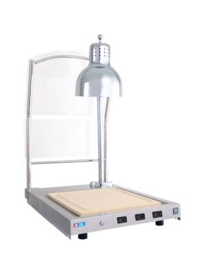 ALTO SHAAM CS-100S Single Lamp Hot Carving Station with Sneeze guard
