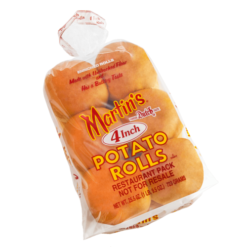 MARTIN'S Sliced Potato Rolls - 4 inch | Perfect for jumbo-sized burgers