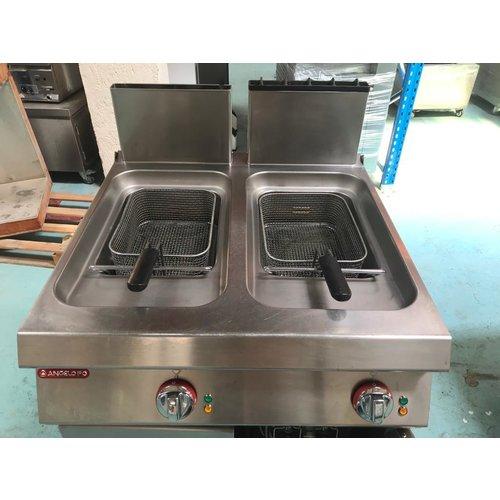 ANGELOPO 1G1FR4G-FPM03 - Freestanding Double Tank Gas Fryer, 12+12 L
