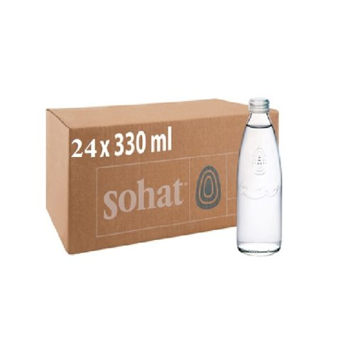 SOHAT Natural Mineral Water Glass-1 Case(24 Bottles * 330 ml)