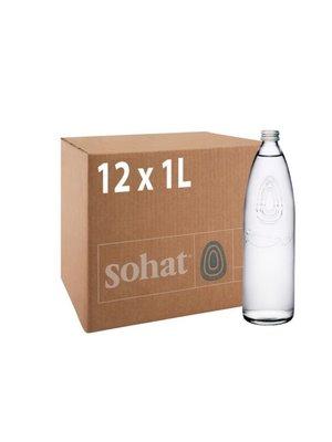 SOHAT Natural Mineral Water Glass-1 Case(12 Bottles * 1 Ltr)