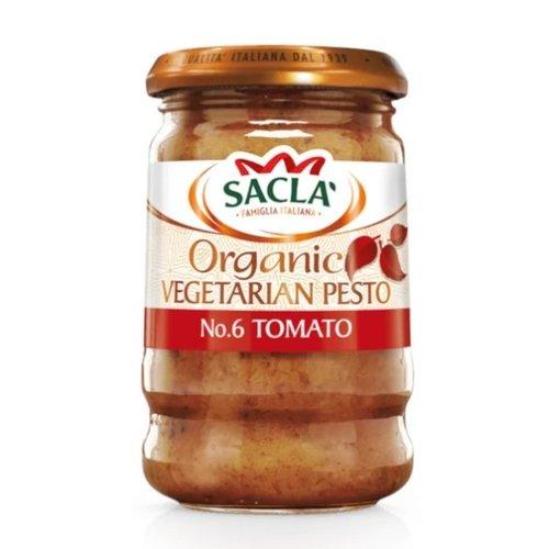 SACLA Organic Red Pesto 190 gms - 6 bottles (190 g each)