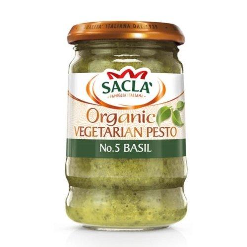 SACLA Organic Green Pesto 190 gms - 6 bottles (190 g each)