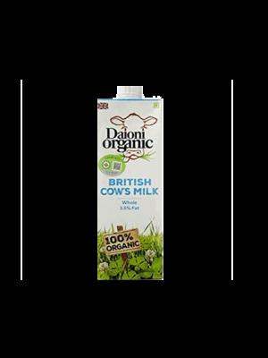 DAIONI ORGANIC Organic Whole UHT Milk 1 Ltr-1 Case(12 Pack x 1 Ltr.)