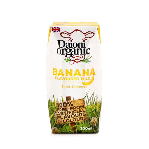 DAIONI ORGANIC Organic Banana UHT Milk-200 ml-1 Case(18 Pack*200 ml)