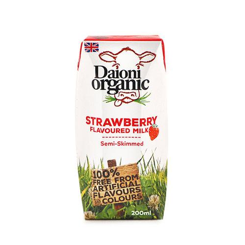 DAIONI ORGANIC Organic UHT Strawberry UHT Milk 200 ml-1 Case(18 Pack*200 ml)
