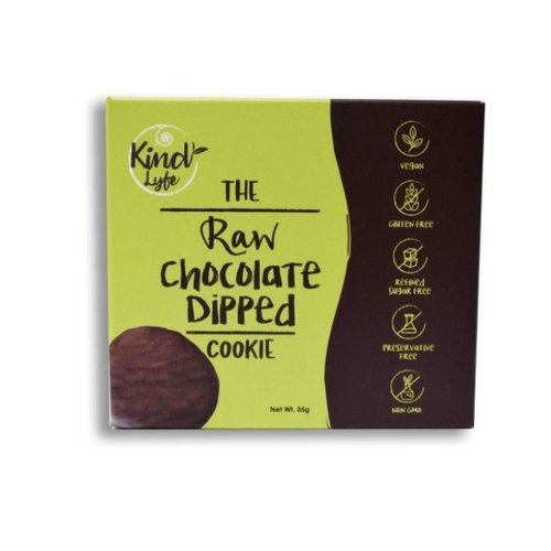 KINDLYFE THE RAW CHOCOLATE DIPPED COOKIE 35 G-1 Case (10 Pack x 35 g)