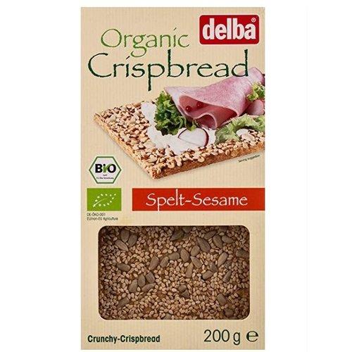DELBA Crispbread Spelt Sesame 200 g - 6 pieces (200 g each)