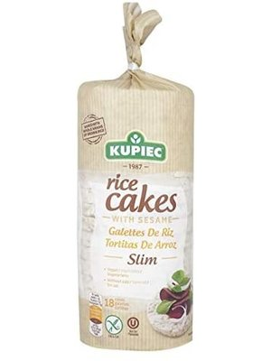 KUPIEC Rice Cakes with Sesame Thin 90 g - 12 pieces (90 g each)