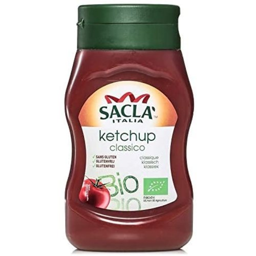 SACLA Ketchup Classico Bottle 290 g-1 Case(8 Pack x  290 g)
