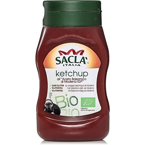 SACLA Ketchup Balsamic Bottle-1 Case(8 Pack x  290 gm)