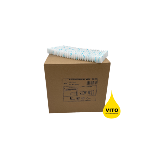 VITO Cellulose Particle Filter for V50/80: 1 Box (100 Pcs.)