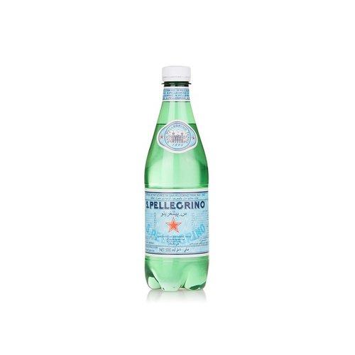 SAN PELLEGRINO Sparkling Natural Mineral Water Plastic-1 Case (24 Bottles x 500ml)