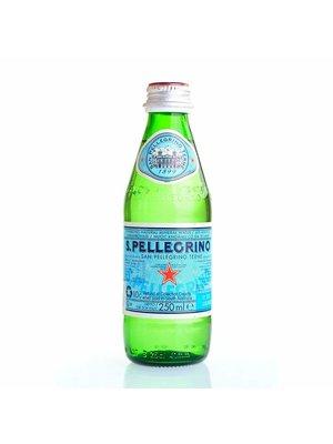 SAN PELLEGRINO Sparkling Natural Mineral Water Glass-1 Case(24 Bottles x 250 ml)