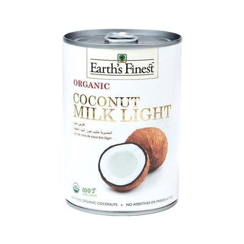EARTH'S FINEST Organic Coconut Milk Light 400 ml-1 Case(12 Pack*400 ml)