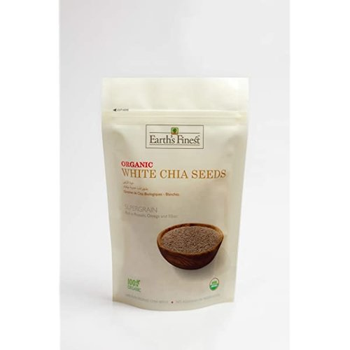 EARTH'S FINEST Organic White Chia Seeds - 300 gm