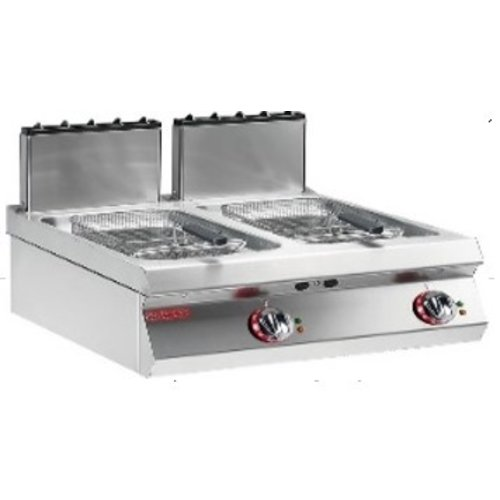 ANGELOPO 1G0FR6G - 2-Well Gas Fryer 7+7 L, V-Shaped