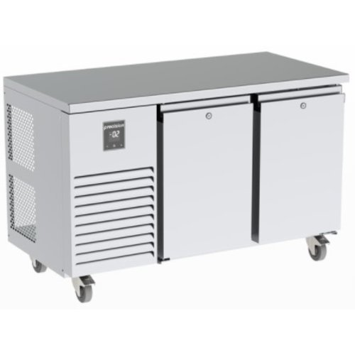 PRECISION MCU 211 - 2-Door Stainless Steel Undercounter Refrigerator Left Compressor