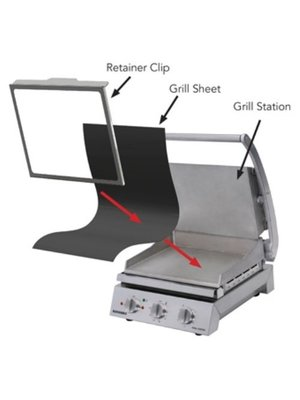 ROBAND RC6 Retainer Clip for 6 slice Grill Stations