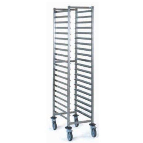 804 249 GN 2/1 bar slide trolley (flat packed)
